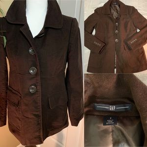 Gap Pea coat brown size small